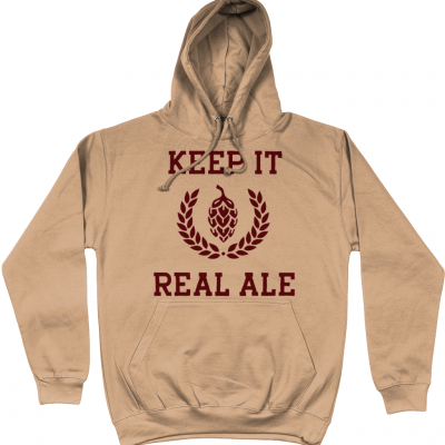 Keep It Real Ale Hoodie - Nude