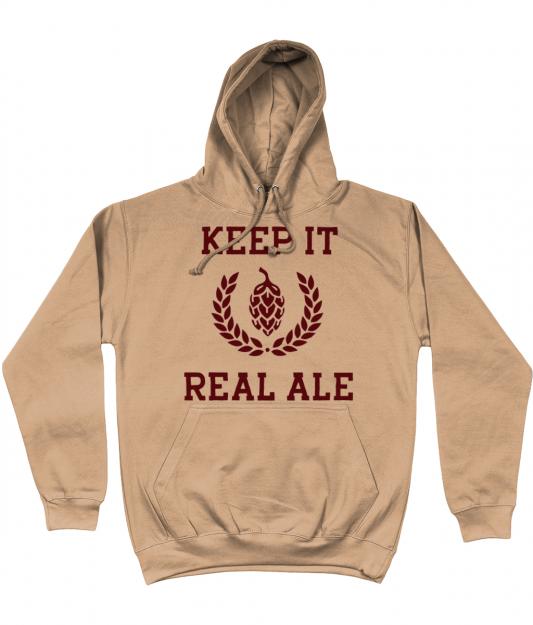 Keep It Real Ale Hoodie - Nude