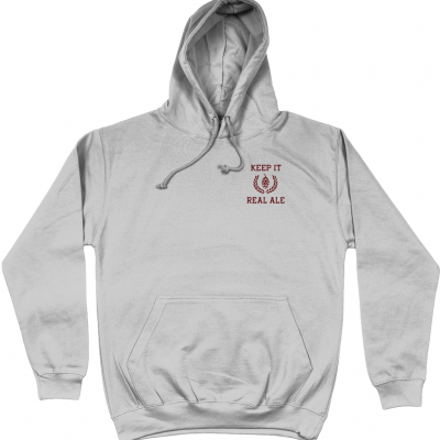 Keep It Real Ale Hoodie - Heather Grey
