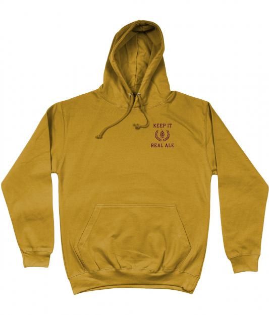 Keep It Real Ale Hoodie - Mustard
