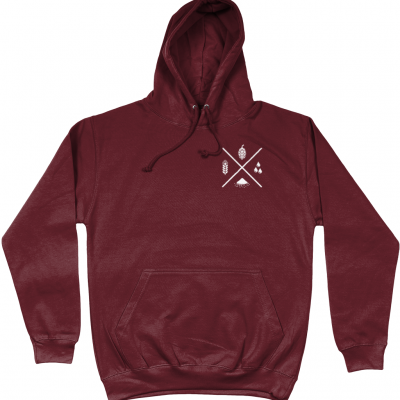 Four Ingredients Hoodie - Burgandy