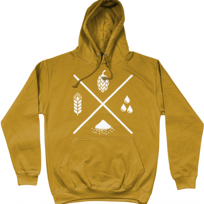 Four Ingredients Hoodie - Mustard