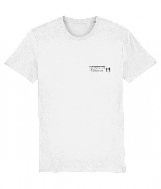 Rutherfords White T Small Print
